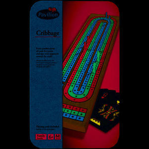 Pavilion Cribbage Track Game w/ Playing Cards NEW